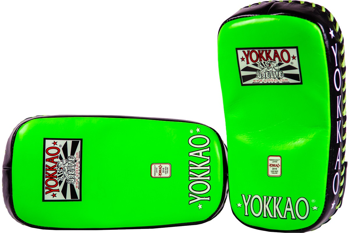yokkao-curved-kicking-pads-neon-green-black-efe215