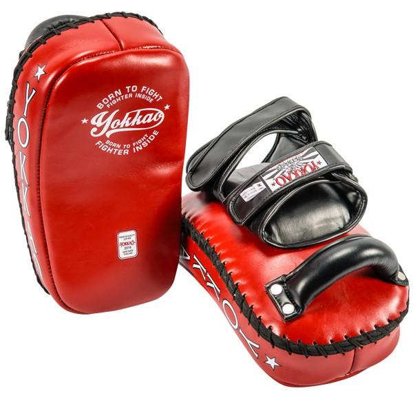 yokkao-curved-vintage-red-kicking-pad-35d230