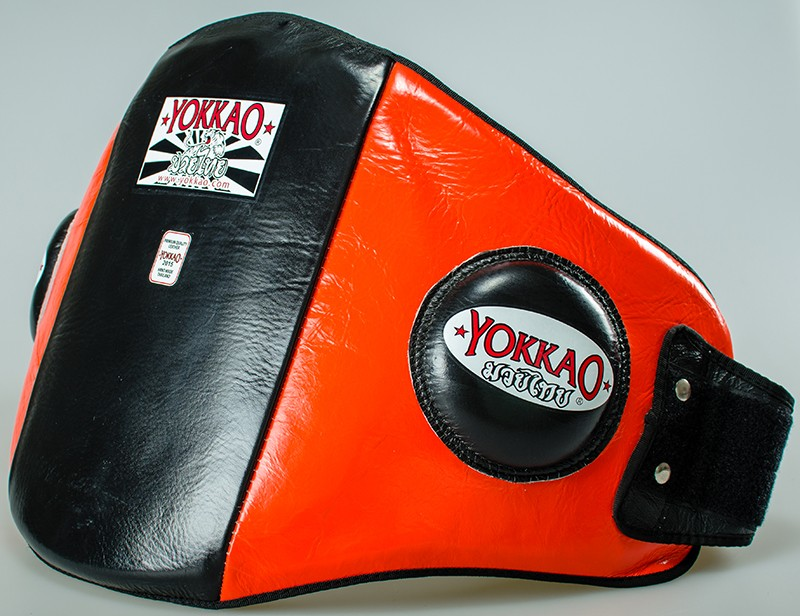 yokkao-orange-black-belly-pad