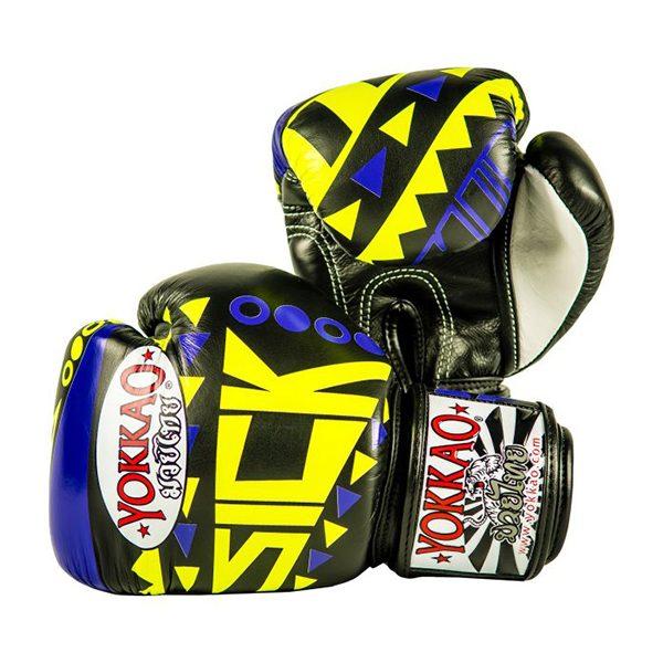 yokkao//boxing YOKKAO SICK MUAY THAI BOXING GLOVES VIOLET//YELLOW 2018